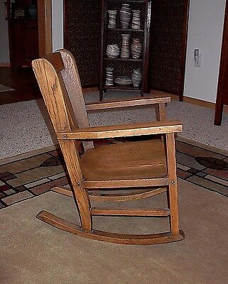 Fabulous Vintage Heywood Bros Wakefield Arts Crafts Child Mission Ncnpc Chair Design For Home Ncnpcorg