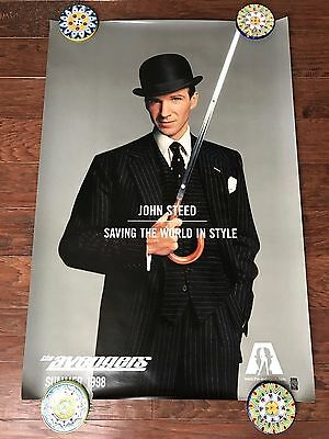 The Avengers John Steed 27X40 Ds Movie Poster One Sheet New Authentic