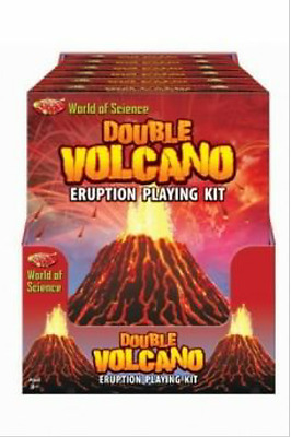 World Of Science Double Volcano Eruption Playing Kit Educational Toys