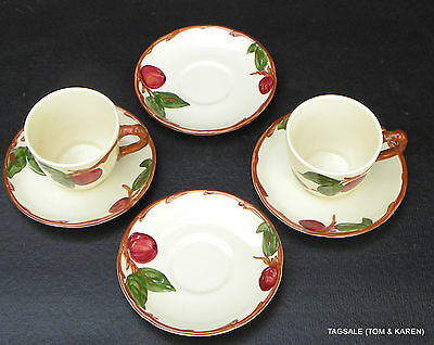 APPLE by FRANCISCAN ~  MADE in CALIFORNIA ~ 2 CUPS & 4 SAUCERS ................&