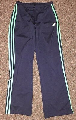 Vintage Girls Workout Pants Made By Adidas Size S/M Navy Blue Stripes