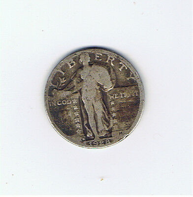 1928 D Silver Standing Liberty Quarter 90% Silver (1)