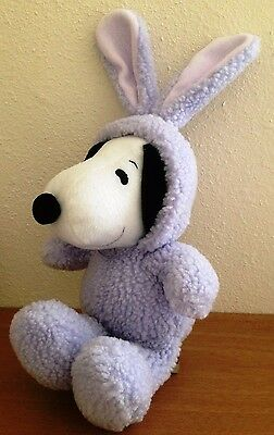 "HALLMARK Lavender EASTER BUNNY SNOOPY 11"" Stuffed Plush Toy"