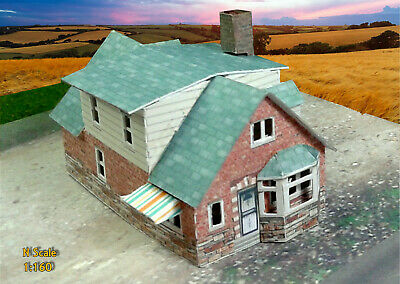 N Scale Buildings Double pack (QTY 2) - Houses Card Stock Kit