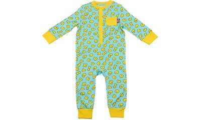CBEEBIES BLOB YELLOW AND GREEN COTTON  ALL IN ONE PYJAMAS 12mth - 6 yrs