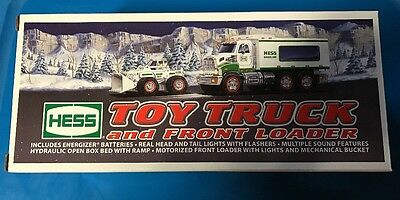 New 2008 Hess Toy Truck And Front Loader In Box
