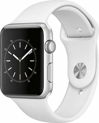 ** NEW SEALED ** Apple Watch Series 1 42mm Silver Aluminum Case White Sport Band
