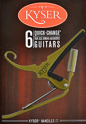 Kyser  Quick Change Gold Capo For Acoustic Guitars - Made In Usa