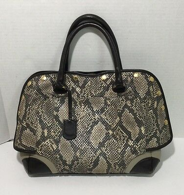 FURLA Snakeskin Leather Tote Bag Shopper Beautiful & Excellent Condition