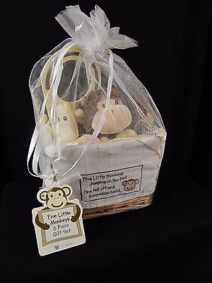 Baby Aspen Five Little Monkeys 5-Piece Gift Set New with Tags Lovey Rattle more