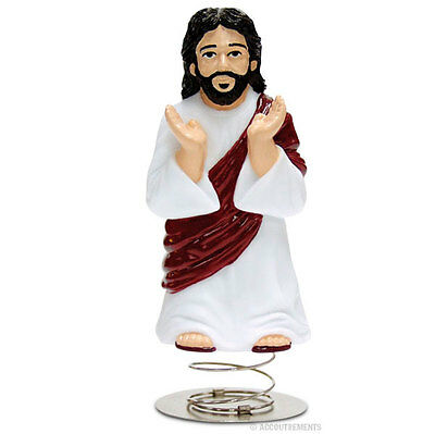 Dashboard Jesus Car Bobble Head - Christ Figure Quirky Gift