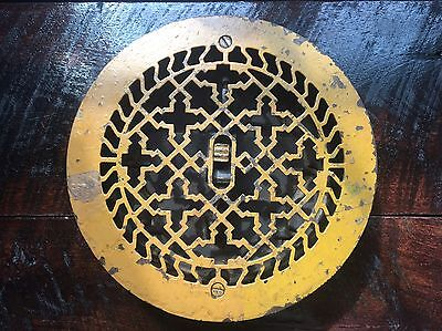 Vintage Cast Iron Floor Vent Round Heat Vent Architectural Ornate Air Grate
