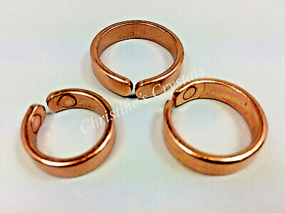 A MAGNETIC Solid Copper COPPER RING Healing Arthritis Pain Relief (MR8)
