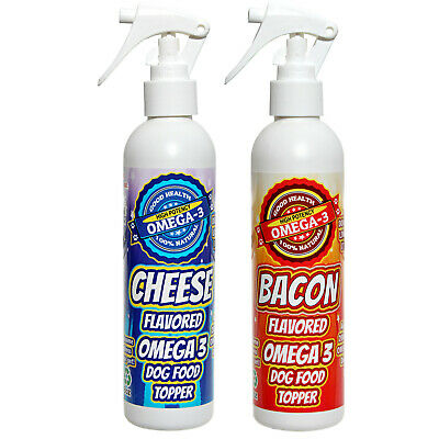 Bacon and Cheese Flavor Spray For Dry Dog Food