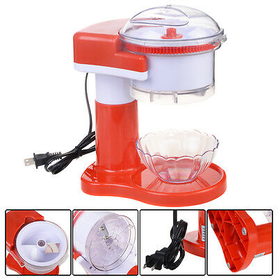 Electric Ice Shaver Crusher Machine Snow Cone Maker Commercial Shaved Red New