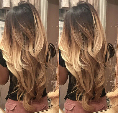 6A Brazilian Real Human Hair Wigs Long Blonde Wavy Lace Front Wig Full Lace Wigs