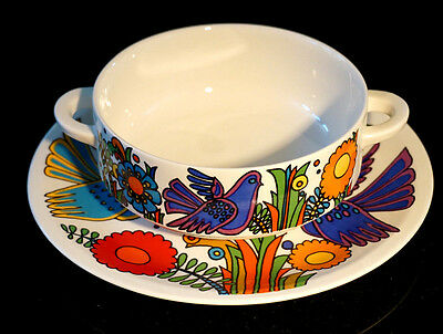 Beautiful Villeroy Boch Acapulco Cream Soup Bowl And Saucer
