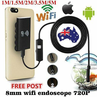 6LED Wifi Endoscope Waterproof Inspection 720P Camera For iPhone Android /IOS GT