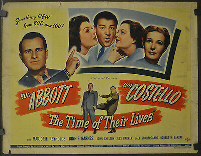 The Time Of Their Lives 1946 Original 22X28 Movie Poster Bud Abbott Lou Costello