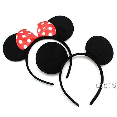 Mickey Mouse and Minnie Mouse Ears Headband Disney Costume Fancy Dress Party