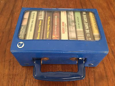 Bulk Cassette Tapes In Retro Blue Case Collectible And Vintage