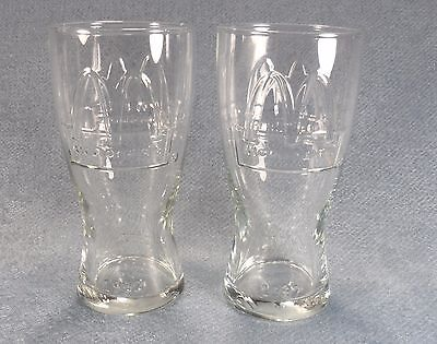 Set of 2 McDonalds 1992 Clear Collectible Glasses