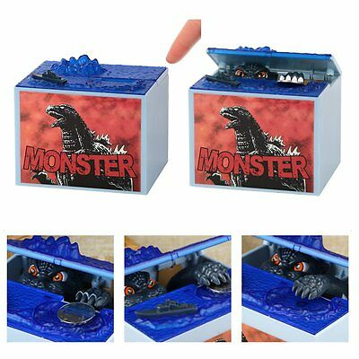 Electronic Godzilla Coin Bank M oney Box Monsters Movie Character Piggy Bank Box