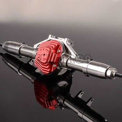 CNC Aluminum Rear Axle Completed Assembly For RC 1:10 Axial SCX10 Rock Crawler