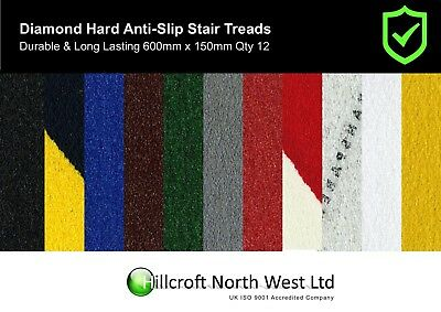 Self Adhesive Non Slip Treads 600mm x 150mm Multiple Colours
