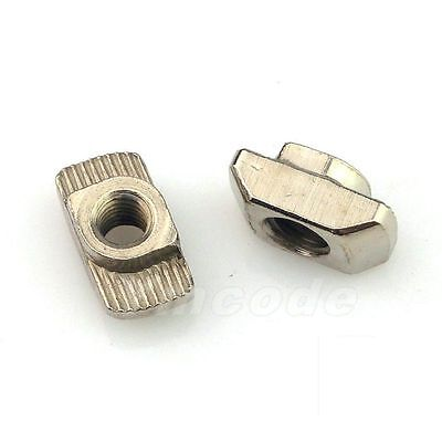 M3M4M5M6 Hammer Nut For 30 Series Aluminum Connector Nickel Plated Carbon Steel