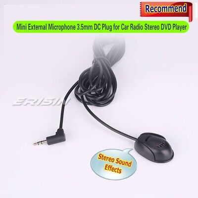 External Microphone Standard 3.5mm plug Stereo Sound for Car DVD PC Laptop 008GB