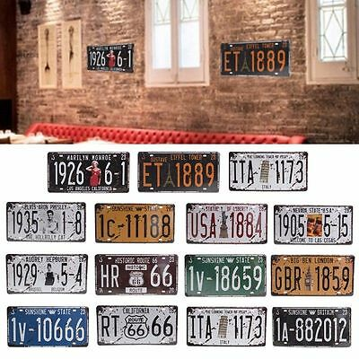 Retro License Plate Metal Sign Plaque Poster Wall Decor Bar Club Pub Home