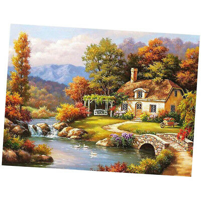 Canvas DIY Digital Oil Painting Kit Paint by Numbers No Frame Forest Cottage