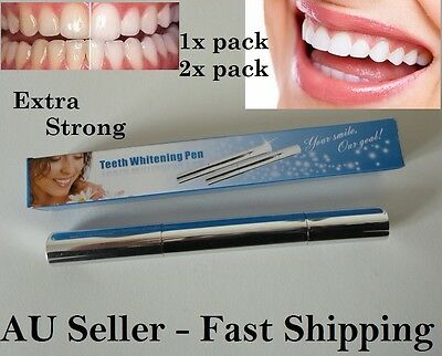Teeth whitening Pen Tooth Gel Extra Strong Oral Care home Use 1 Pack / 2 Pack