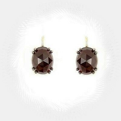 Classic oval garnet earrings/-boutons w/14ct gold wires  || ГРАНАТ WPK