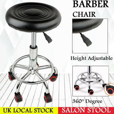 Salon Stool Hairdressing Styling Chair Barber Massage Beauty Tattoo Studio Black