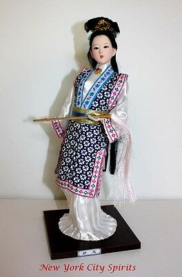 Traditional Chinese Art Silk Figurine Doll Statue-Miao Yu