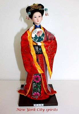 Traditional Chinese Art Silk Figurine Doll Statue-Jia Yuanchun
