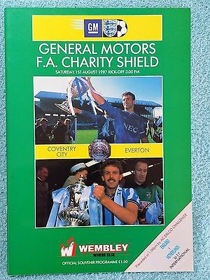 1987 - CHARITY SHIELD PROGRAMME - COVENTRY CITY v EVERTON - V.G CONDITION
