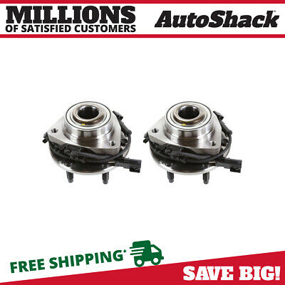 Front Wheel Hub & Bearing Pair Set fits 02-09 GM Trailblazer Envoy w/ ABS 6 Lug