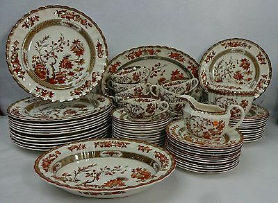 SPODE china INDIAN TREE ORANGE 65-piece SET SERVICE for 12 - Later Mark