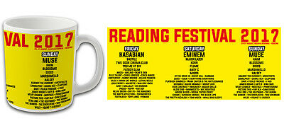 Reading Festival 2017 Line Up Souvenir Mug Kasabian Eminem Muse Bargain Price