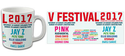 V Festival 2017 Line Up Souvenir Mug Pink Jay Z Top Quality Bargain Price