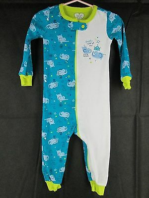 Childrens Place Baby Long Sleeve One Piece Pajamas 12 18 months Elephant Daddy