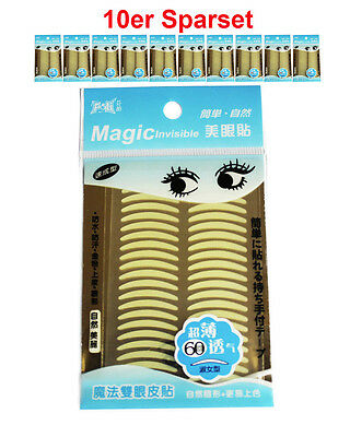 "MAGIC Invisible ""girl size"" (S)Augenlidliftig ohne OP[10x60Paar] Sparset"