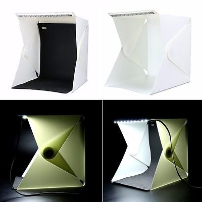 Nice! Folding Portable Photo Studio Soft Box Table Cube with Led Light
