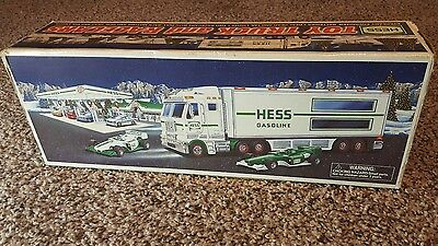 hess gasoline truck and racecars 2003