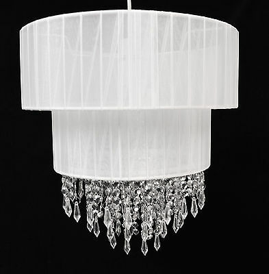 Pendant 2 Tier Voile Chandelier Style Ceiling Light Shade