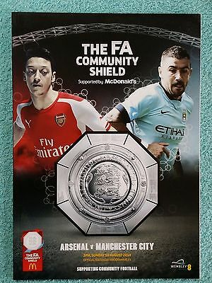 2014 - COMMUNITY SHIELD PROGRAMME - ARSENAL v MANCHESTER CITY