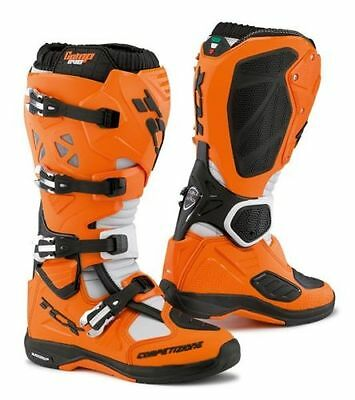 stivali TCX COMP EVO MICHELIN ORANGE/BLACK taglia 44/10 cross enduro